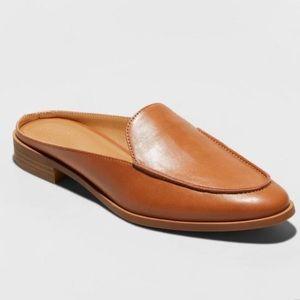 Universal Thread Dekota brown mules round toe